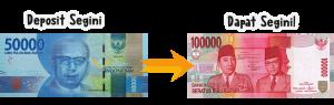 deposit 50rb dapat 100rb